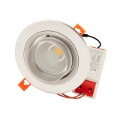 Spot encastrable 30W LED COB Citizen orientable blanc pur D140x125mm découpe 125mm