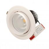 Spot encastrable 40W LED COB Citizen orientable banc pur D180x160mm découpe 165mm