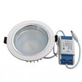 Spot encastrable 9W LED SMD5630 Samsung blanc chaud D130x66mm découpe 115mm