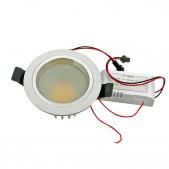 Spot encastrable 5W LED SMD5630 Samsung blanc chaud D91x55mm découpe 78mm