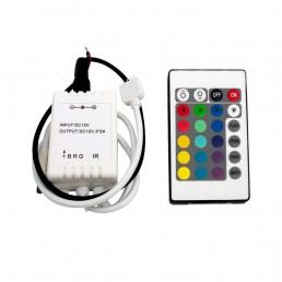 Contrôleur RGB 72W avec télécommande IR