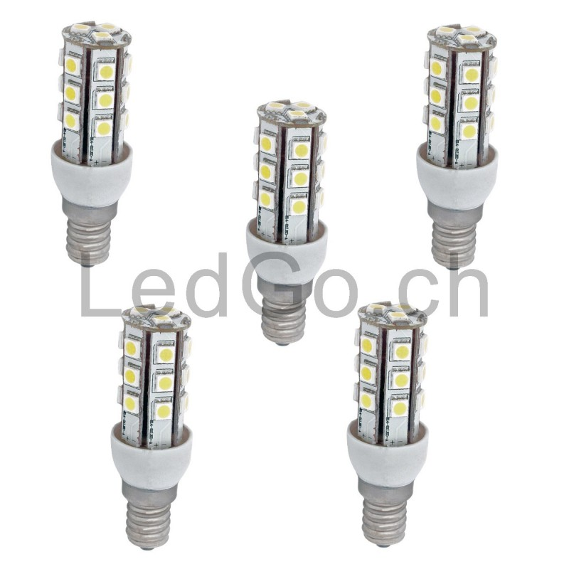 lot de 5 ampoules 2w corn e14 led smd5050. Black Bedroom Furniture Sets. Home Design Ideas