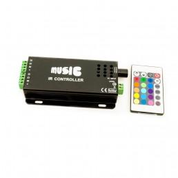 Contrôleur RGB musical 144W 2 sorties avec télécommande IR