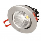Spot encastrable 5W LED COB Citizen orientable blanc chaud alu clair