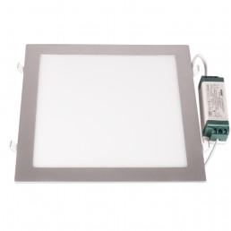 Panneau LED encastrable 24W carré 300X300X13mm blanc pur 840 alu clair