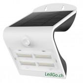 Projecteur LED solaire PIR 3.2W IP65 4000°K/4000°K avec détecteur de présence PIR