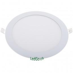 Panneau rond LED 18W 225x13mm encastrable