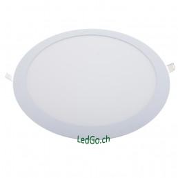 Panneau rond LED 24W 300x13mm encastrable blanc pur 840