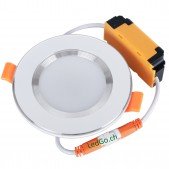 Spot encastrable 3W LED SMD5730 ultra fin blanc chaud D100x35mm découpe 70mm