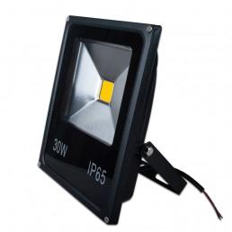 Projecteur LED plat 30W COB IP65 12-24V DC blanc chaud