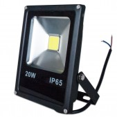 Projecteur LED plat 20W COB IP65 12-24V DC blanc froid