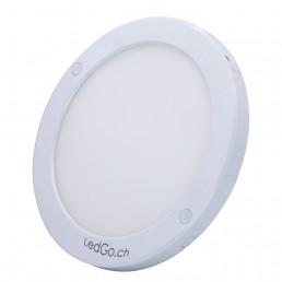 Plafonnier rond LED 18W IP44 220x18mm applique blanc pur 840