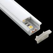 Profil aluminium à encastrer 23.1x8.5mm 2.5m 001R