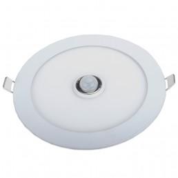Panneau rond LED 15W PIR 0-100% 180s (réglable) 190x30mm encastrable blanc pur 840