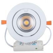 Spot encastrable 40W LED COB Citizen orientable 24° blanc pur D195x120mm découpe 165mm alimentation Lifud incluse