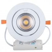 Spot encastrable 40W LED COB Citizen orientable 24° blanc pur Ra80 D195x120mm découpe 165mm alimentation Lifud incluse