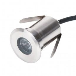 Spot encastrable rond 3W IP67 3000°K Ø42mm H60mm découpe 35mm blanc chaud 90°