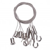 4 filins suspension réglables pour panneau carré CGLM