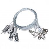 6 filins suspension réglables pour panneau 1195x295mm