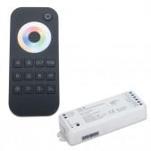 Set contrôleur 5 canaux tension stabilisée + télécommande tactile RGB + CCT 1 zone