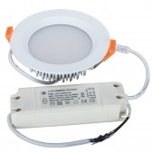 Spot encastrable 9W LED SMD2835 Samsung 0-10V dimmable blanc pur D110x40mm découpe 90mm