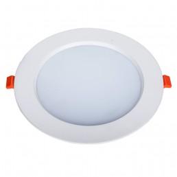 Panneau rond LED 18W 185x28mm encastrable triac dimmable blanc pur découpe 140mm
