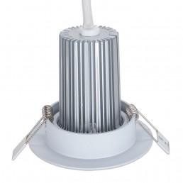 Spot encastrable 8W LED COB orientable blanc chaud Ra97 alimentation Boke 0-10V dimmable incluse D90x80mm découpe 70mm