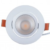 Spot encastrable 12W LED COB orientable blanc pur Ra 90 alimentation Lifud incluse D110x85mm découpe 90mm