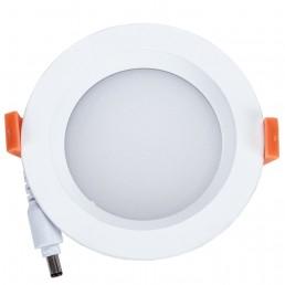 Spot encastrable 10W LED SMD2835 Samsung blanc pur D110x40mm découpe 90mm