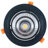 Spot encastrable 35W LED COB Citizen Orientable blanc pur 840 D168x120mm découpe 145-150mm