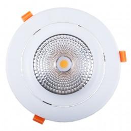 Spot encastrable 40W LED COB Citizen (1210) orientable blanc pur 60° Ra90 D194x129mm découpe 160-175mm alimentation incluse