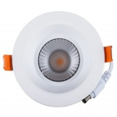 Spot encastrable 12W LED COB 60° blanc chaud Ra 97 alimentation Lifud incluse D100x65mm découpe 83mm