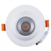 Spot encastrable 12W LED COB 60° blanc chaud Ra 97 alimentation Lifud incluse D100x65mm découpe 83mm
